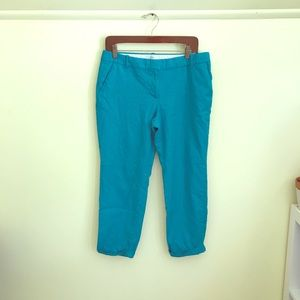 Jcrew Cafe Capri Wool Pants in Mint